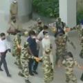 Actor Kangana Ranaut reaches Mohali International Airport
