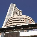 Sensex ends 377 points high