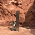 A Monolith appears in Utah desert