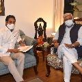 YS Jagan meets Gajendra Singh Shekhawat