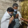 Rajamouli visits Himavad Gopalaswamy temple in Karnataka along with his wife Rama