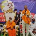 Harish Rao donates to Hyderabad Goshala