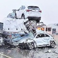 Accident of 100 Vehicles in Texas Because of Snow Cyclone
