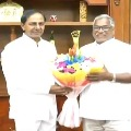 Newly nominated MLCs met CM KCR