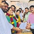 Tammineni Wife Vanisri Nomination for Sarpanch Post