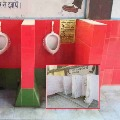 Samajwadi Party objects to hospital urinal in its flag colour
