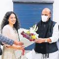 Kangana Meeting with Rajnath Singh