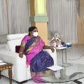 TS CS and Health Secretary meets Governor Tamilisai