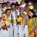 Cheruku Srinivas Reddy joins Congress ahead of Dubbaka polls