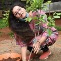 Renu Desai accepts Udayabhanu green challenge