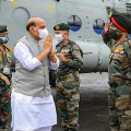 Rajnath Singh Shastra Pooja near China Border