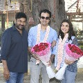 Kajal Aggarwal enters into Acharya set along with her husband and Chiranjeevi blessed the new couple