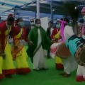 Mamata Banarjee dances in a mass wedding cerempny
