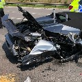 New Lamborghini sports car crashes in West Yorkshire twenty minutes