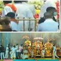 Devotes queued at temples in Telugu States