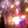 fireworks factory explodes in Russia sending thousands of rockets into the skies