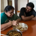 Chiranjeevi prepares tamarind pulp marinated small fish fry for mother