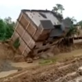 Three Storey Building Falls Into Canal In West Bengal