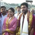 Rashmika and Sharvanand in Tirumala