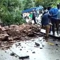 Heavy Rains Causes Land Slides in Tirumala