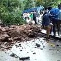 Heavy Rains Causes Land Slides in Tirumala