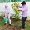 TRS MP Santosh Kumar has taken his Green India Challenge to Delhi