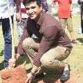 Hero Nikhil and heroine Aishwrya Rajesh participated in Green India Challenge