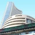 Sensex closes points high