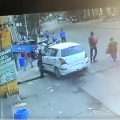 Speeding car rams into parking area in Nampally