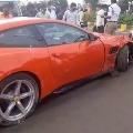 Over speeding Ferari sports car hits man
