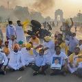 Tractor Near India Gate in Delhi by Farmers