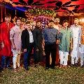 Mega people in single frame at Niharika and Chaitanya wedding