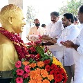 CM Jagan offers prayers at YSR Ghat in Idupulapaya