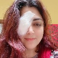 I had to go under a knife for my eye khushbu