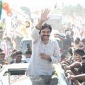 Pawan Kalyan rally starts from Annavaram to Kothapakala