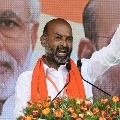 Vaman Raos murder is governments murder says Bandi Sanjay