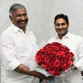 AP CM Jagan appreciates minister Peddireddy for Panchayat polls results
