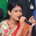 YS Sharmila today meet with Students in Lotus Pond