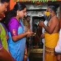Kalvakuntla Kavitha visits Kondagattu Hanuman Temple