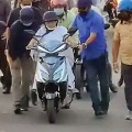 Mamata Banerjee Slipped from two Wheeler viral Video