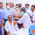 Telangana Health Minister Etela Rajender receives COVID19 vaccine