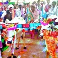 Bullock cart Gifted to groom by bride parents