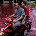 Blood Rain in Indonesia and People Says this is the World End