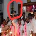 TRS Leader tries to open gun fire in Telangana Bhavan