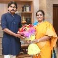 Tirupati by polls BJP contestant Rathna Prabha met Pawan Kalyan in Hyderabad