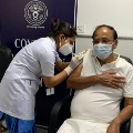 Vekaiah Naidu Administered Second Dose of Covid Vaccine