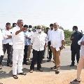 YCP Ministers visits CM Jagan rally venue at Renigunta