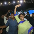 YS Sharmila continues her protest in Lotus Pond residence