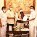 DMK President MK Stalin meets Tamil Nadu Governor