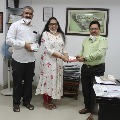 Nandamuri Balakrishna appreciates Arshi Skin and Hair Clinic for their donation
